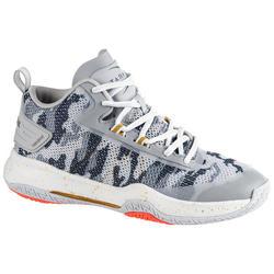Basketbalschoenen SC500 Mid lichtgrijs/blauw (dames)