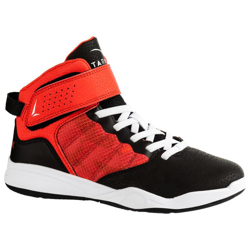 b2847aaa SE100 Easy Boys'/Girls' Beginner Basketball Shoes - Black/Red