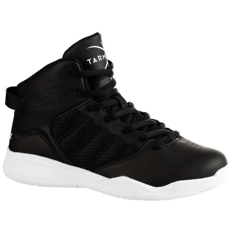 Boys'/Girls' Beginner Basketball Shoes SS100 - Black