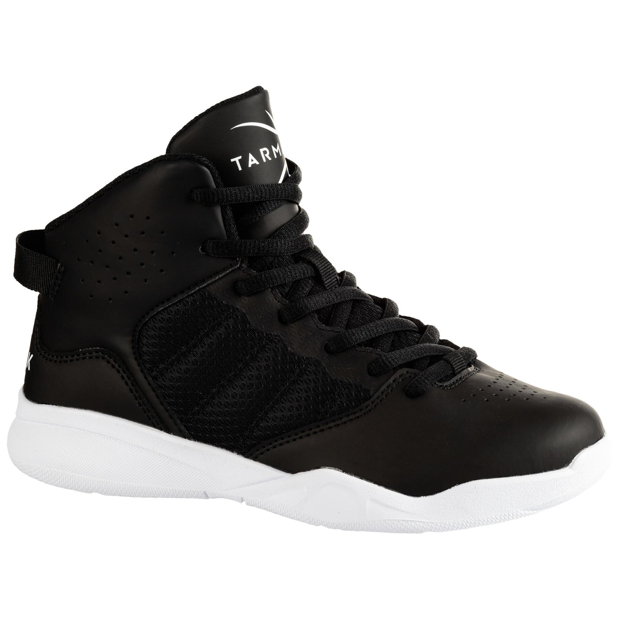 Tarmak Basketbalschoenen voor beginnende jongens/meisjes zwart SS100