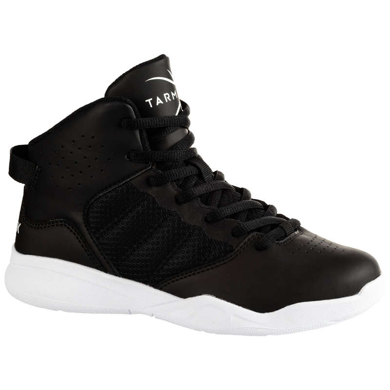 KIDS BASKETBALL FOOTWEAR Basketball - SS100 Basketball Shoes - Black TARMAK - Basketball
