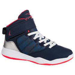 Basketbalschoenen SE100 Easy marineblauw/roze (kinderen)