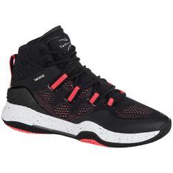 Basketbalschoenen dames zwart roze SC500 High
