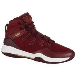 Men's High-Rise Basketball Shoes SC500 - Burgundy/Gold