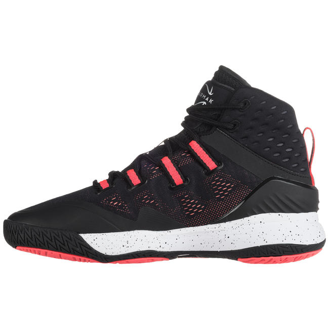 SC500 Women's High Basketball Shoes - Black/Pink