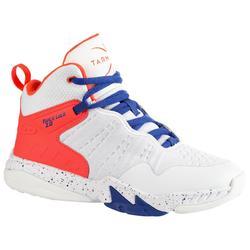 兒童款中階籃球鞋SS500H-白色/粉紅色