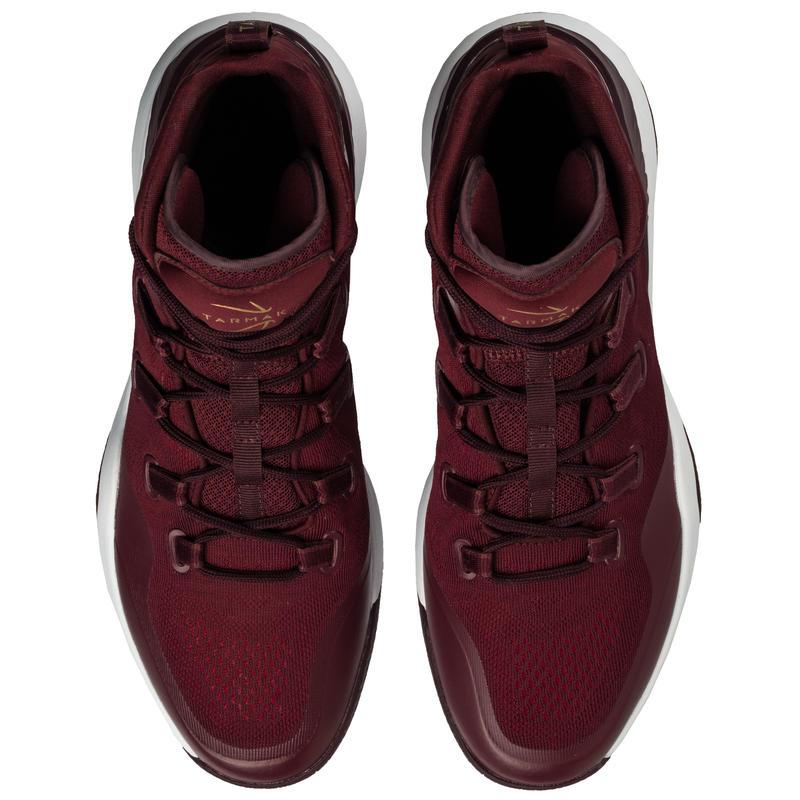 SC500 Adult High-Rise Intermediate Basketball Shoes - Burgundy/Gold