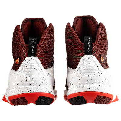 CHAUSSURE DE BASKETBALL HOMME SHIELD 500 bordeaux rouge