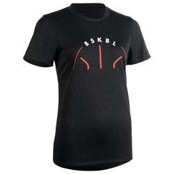 Women's T-Shirt Basketball TS500 - Dark Grey
