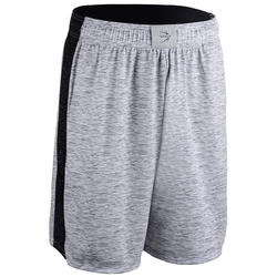 Basketbalshort SH500 grijs (heren)