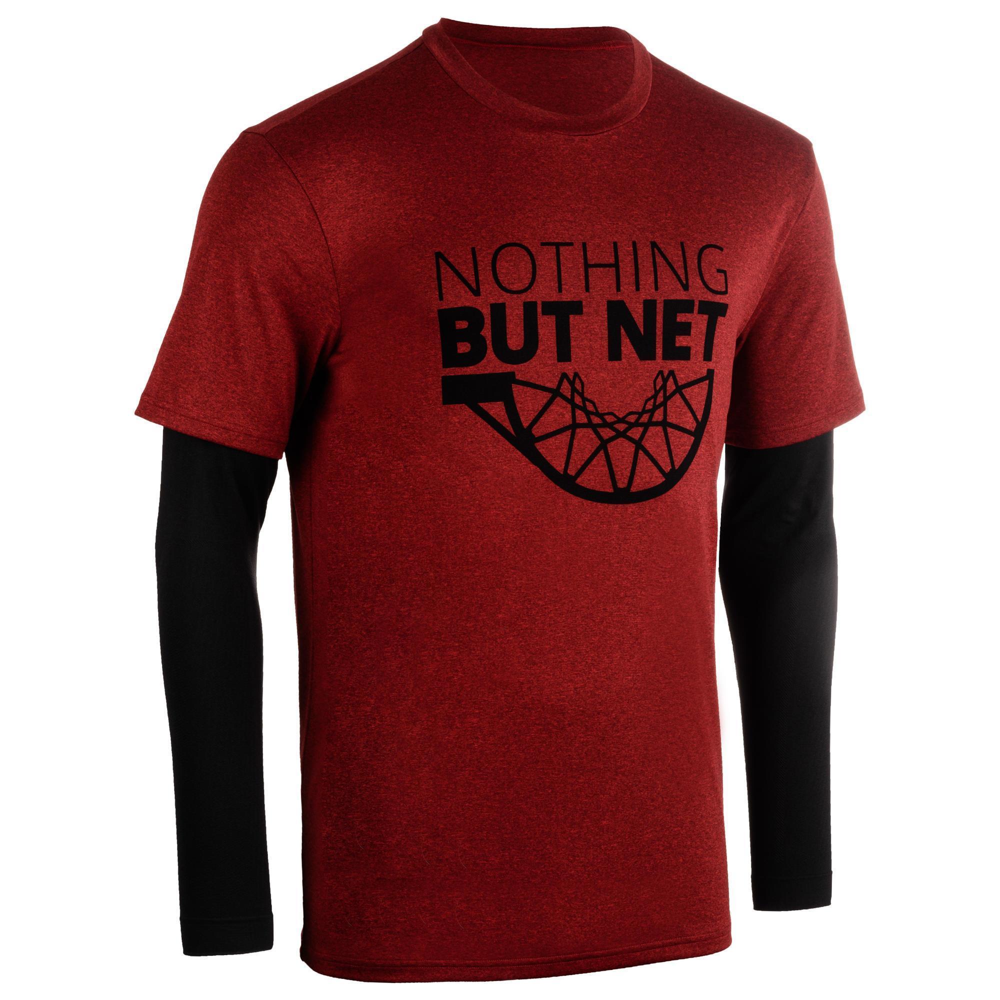 Tarmak Basketbalshirt 900 'Nothing but net' met sleeves (heren)