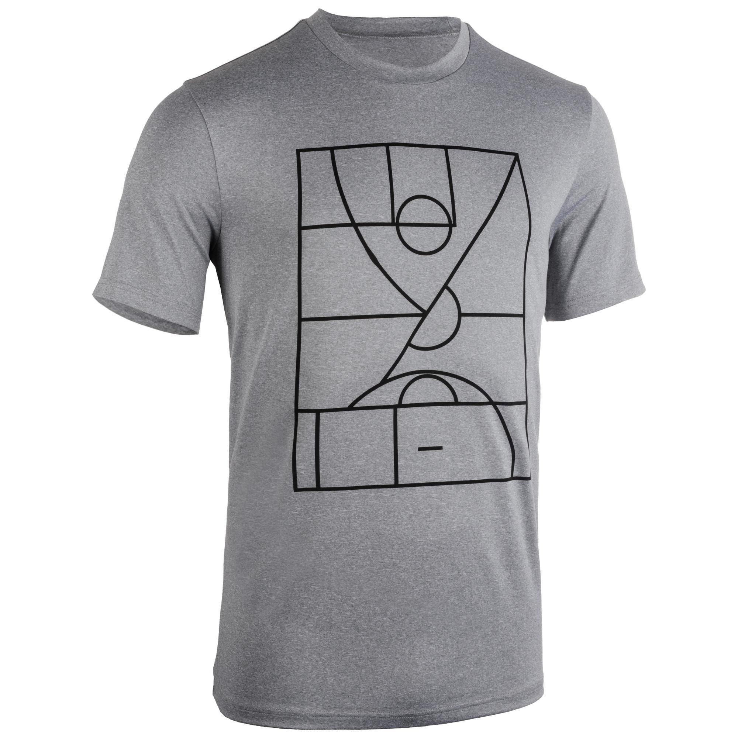 Basketballtrikot TS500 Herren hellgrau Playground | Sportbekleidung > Trikots > Basketballtrikots | Grau | Tarmak