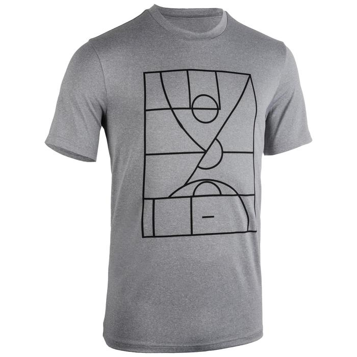 Maillot de basket TS500 Homme Gris Clair Playground