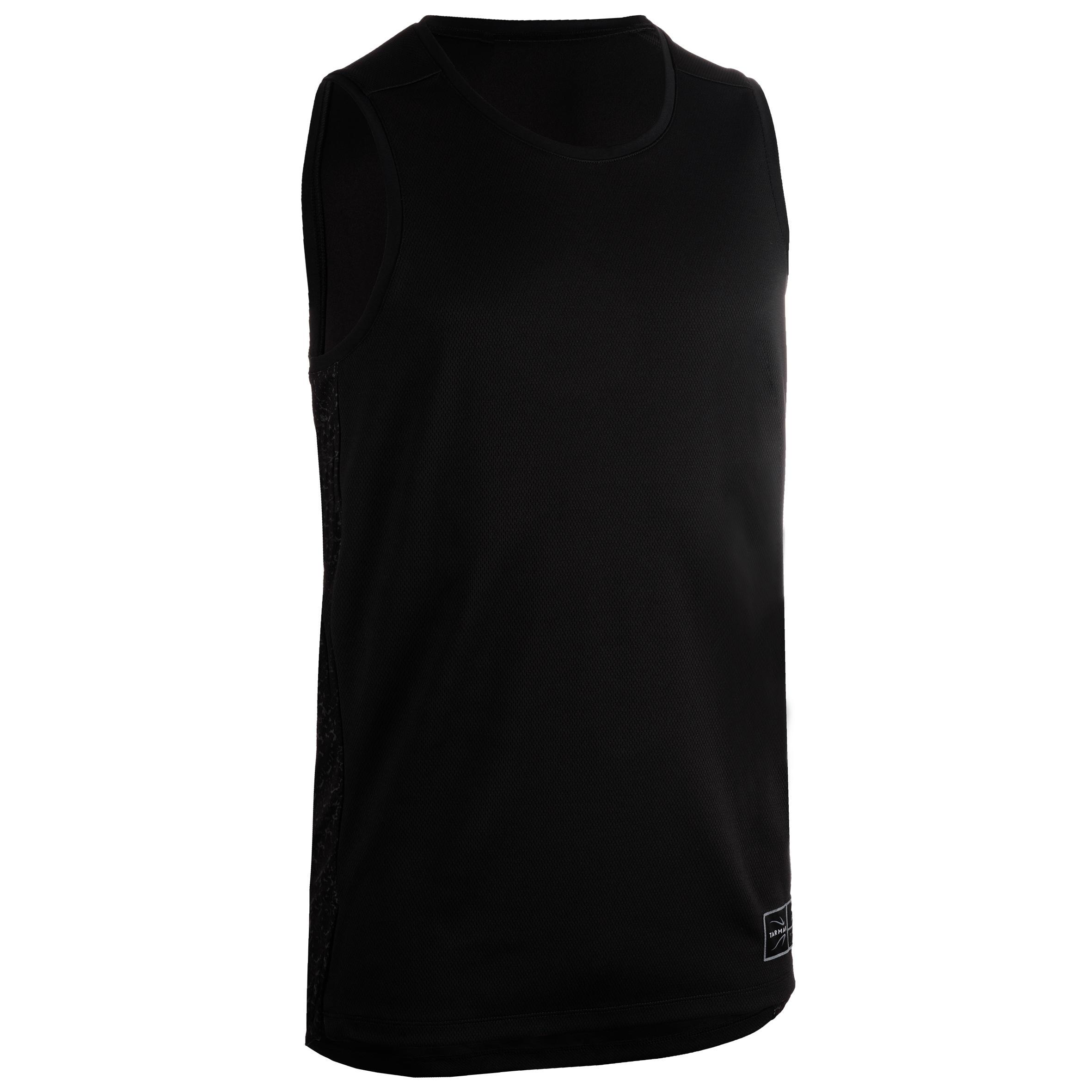 Basketballtrikot ärmellos T500 Herren Fortgeschrittene schwarz/grau | Sportbekleidung > Trikots > Basketballtrikots | Schwarz - Grau - Blau | Tarmak