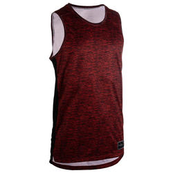 Men's Basketball Jersey / Tank Top T500 - Burgundy/Black