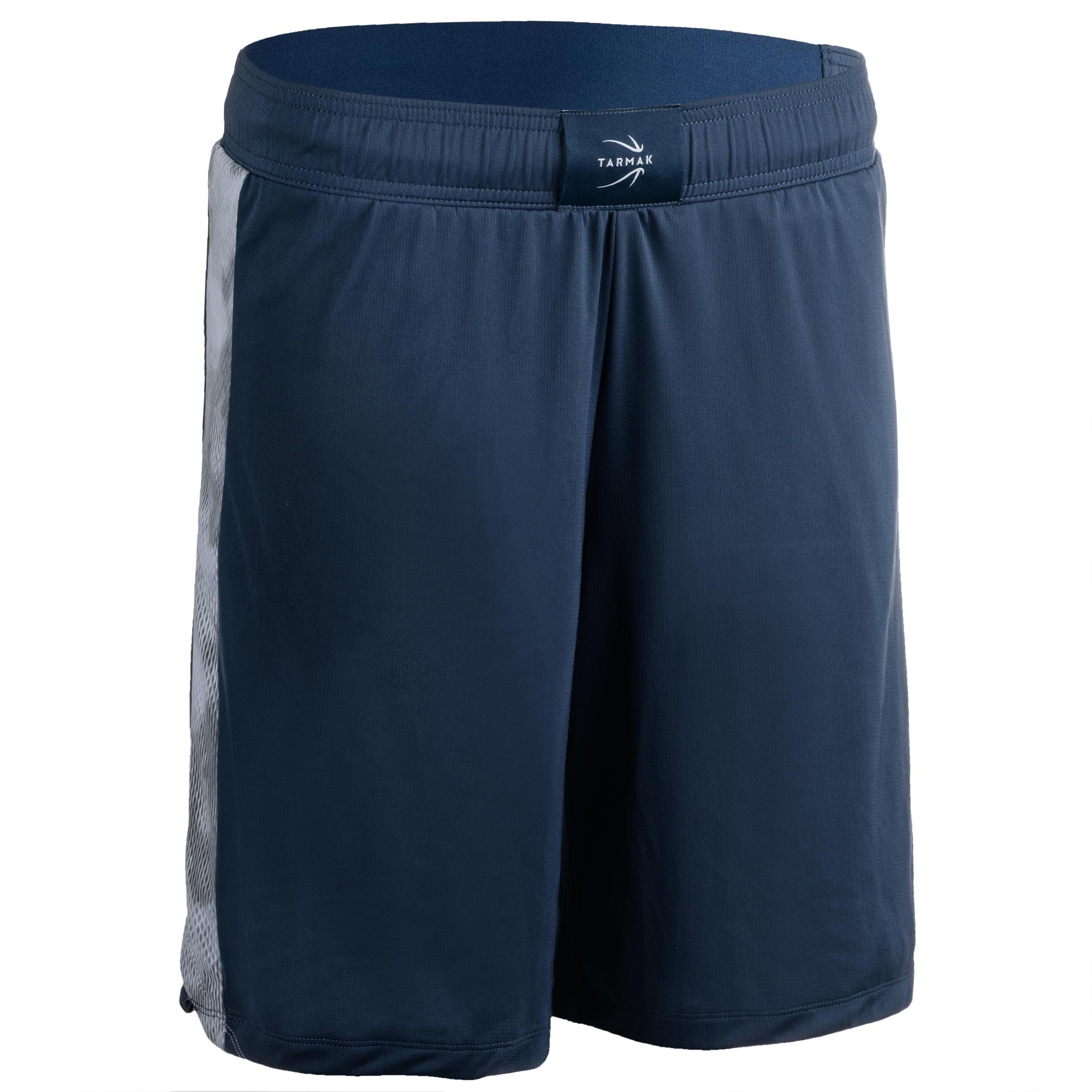 Basketballshorts SH500 Damen blau/grau | Sportbekleidung > Sporthosen > Basketballshorts | Blau - Grau | Tarmak