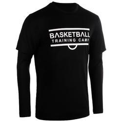 Basketbalshirt 900 met sleeves voor gevorderde heren