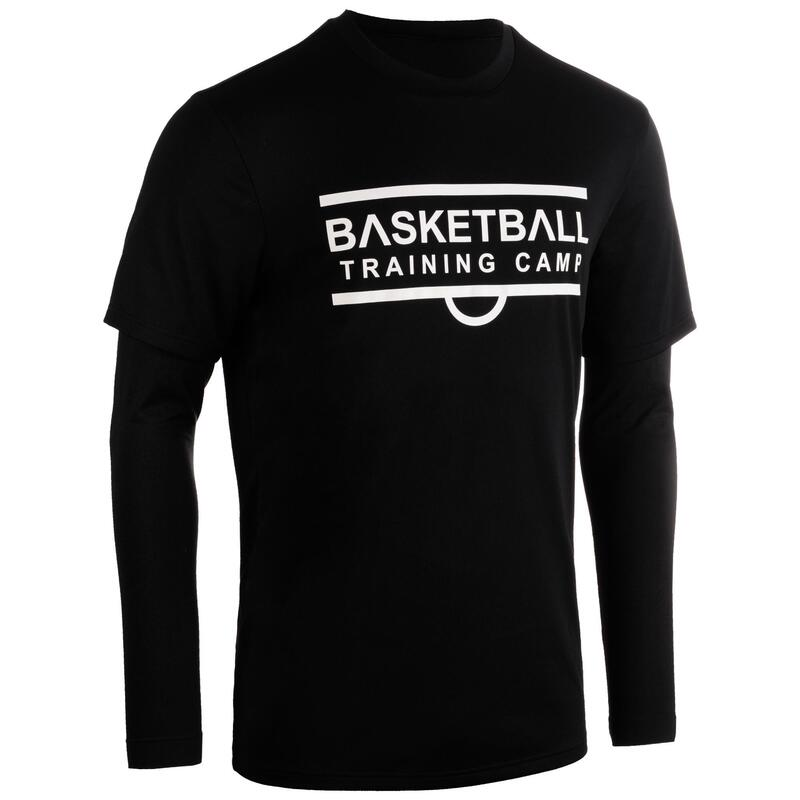 Men's Long-Sleeved Basketball Jersey 900 - Black/Training Camp