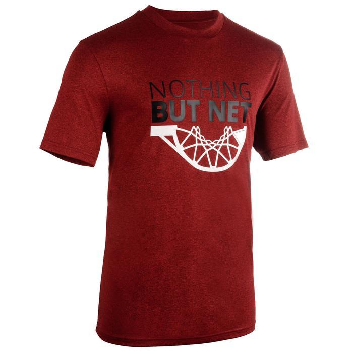 Camiseta de baloncesto TS500 Hombre rojo Net
