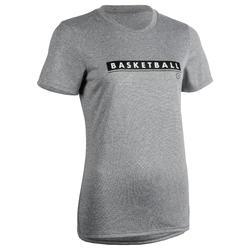 Basketbalshirt TS500 'BBALL' grijs (dames)