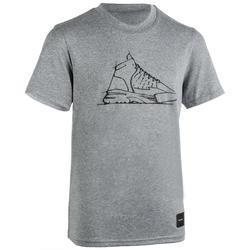 兒童款中階籃球T恤TS500-灰色