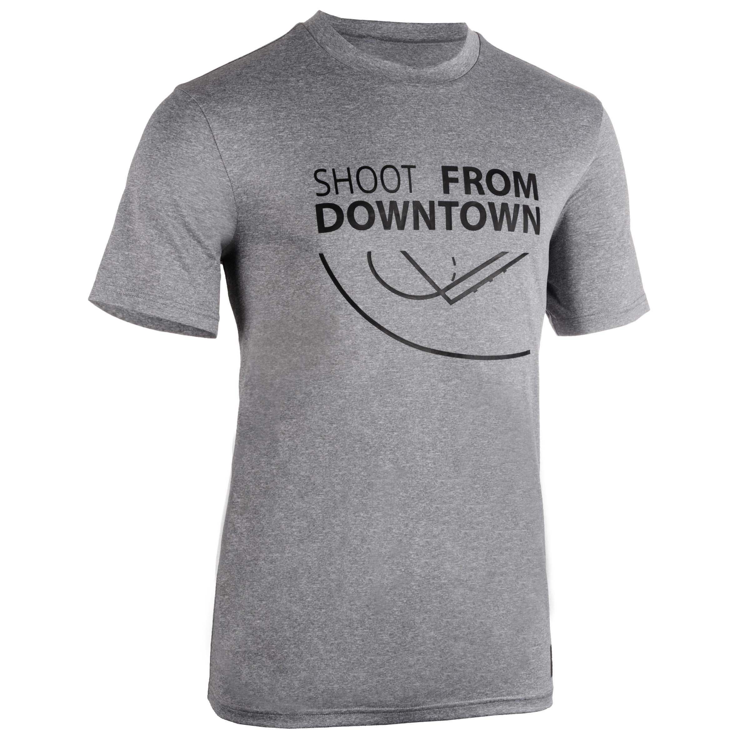 Camiseta de básquetbol TS500 Hombre Gris Claro Shoot