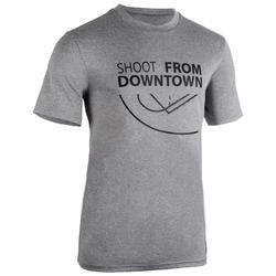 Basketbalshirt TS500 'Shoot' lichtgrijs (heren)