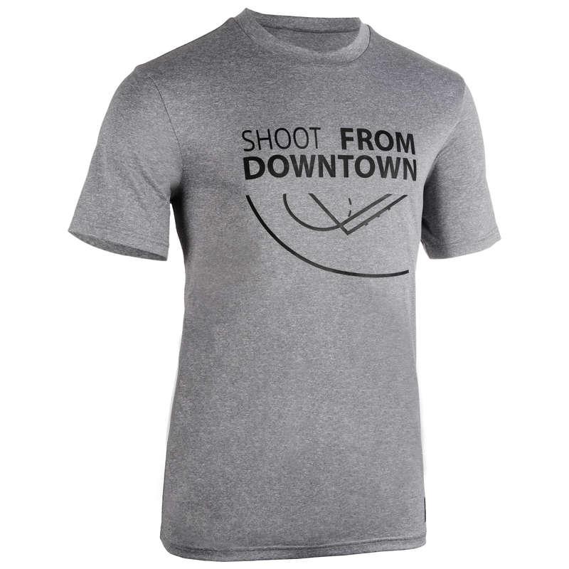 MAN BASKETBALL OUTFIT Basketball - Men's T-Shirt TS500 Grey Shoot TARMAK - Basketball Clothes