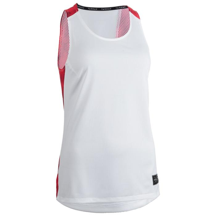 Basketballtrikot T500 Damen weiß/rosa