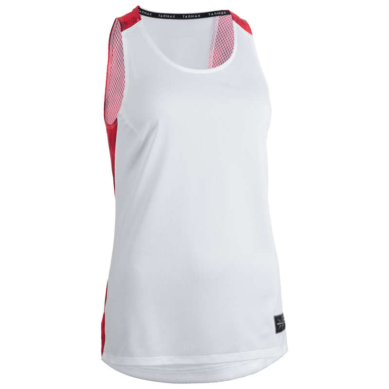 WOMAN BASKETBALL OUTFIT Basketball - T500 Women's Tank Top - White TARMAK - Basketball