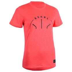 Basketbalshirt TS500 'BSKBL' roze (dames)