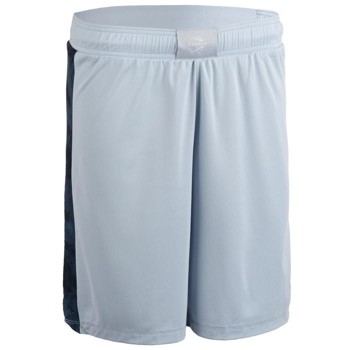 SHORT DE BASKETBALL FEMME GRIS CLAIR NAVY SH500