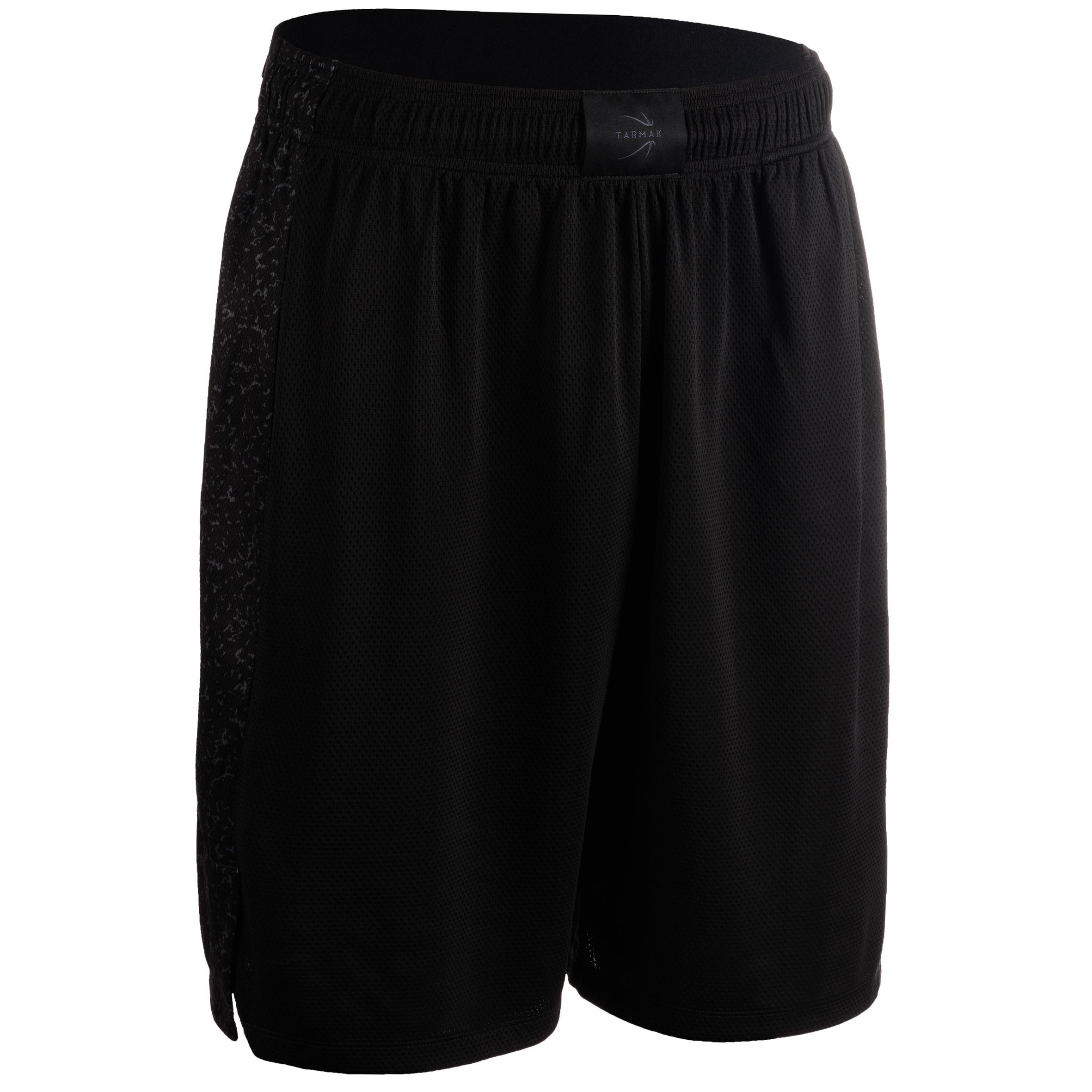 Basketballshorts SH500 Herren Fortgeschrittene schwarz/grau | Sportbekleidung > Sporthosen > Basketballshorts | Schwarz - Grau - Blau | Tarmak
