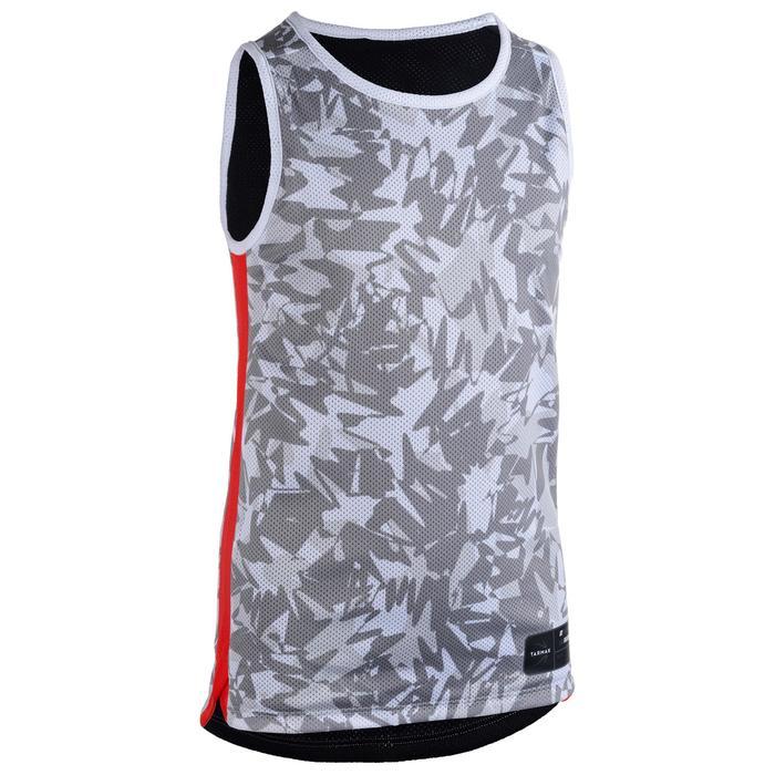 Camiseta Reversibe Baloncesto Tarmak T500R Niños Sin Mangas Gris Negro