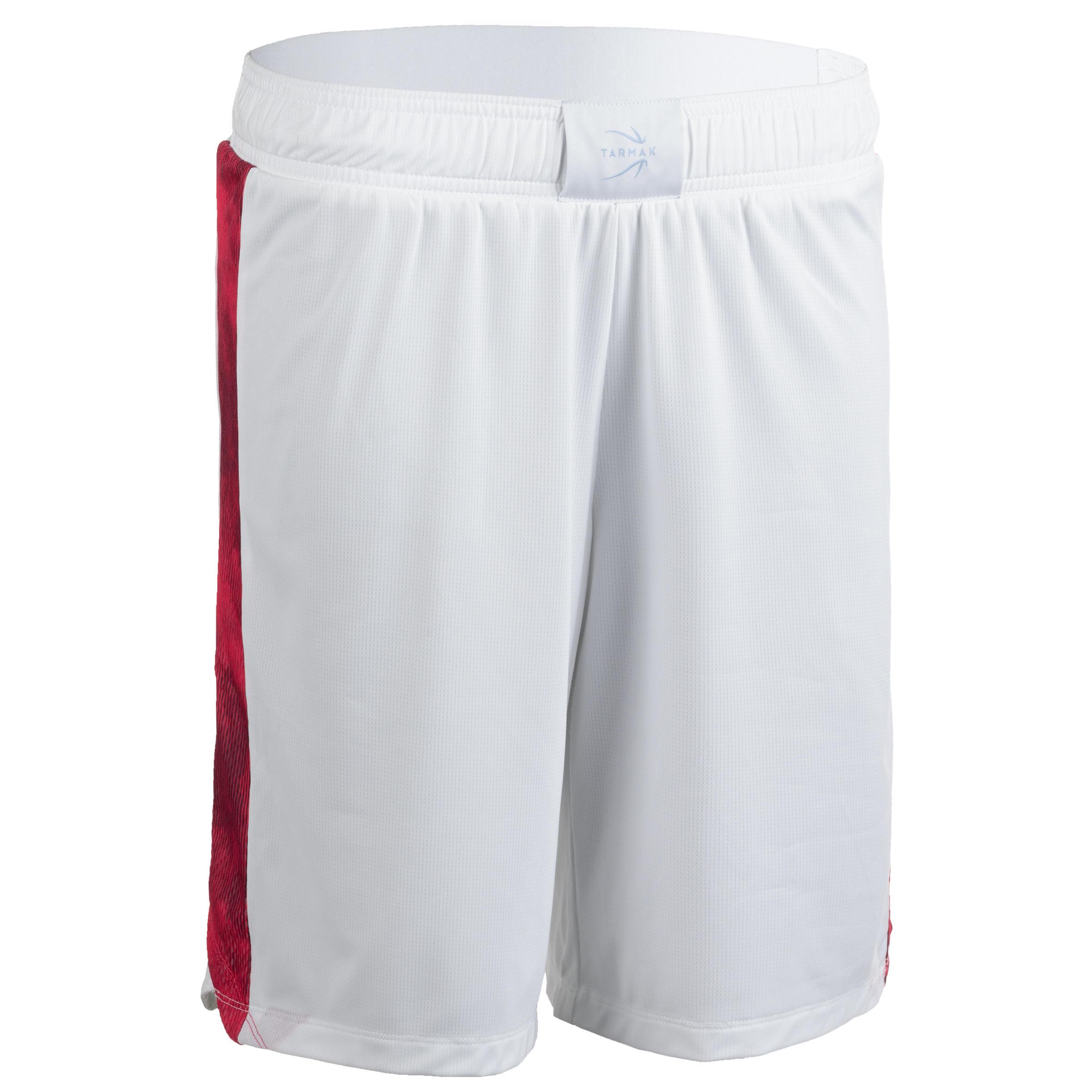 Basketballshorts SH500 Damen weiß/rosa | Sportbekleidung > Sporthosen > Basketballshorts | Weiß - Rot - Rosa | Tarmak