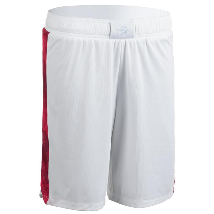 SHORT DE BASKETBALL FEMME BLANC ROSE SH500