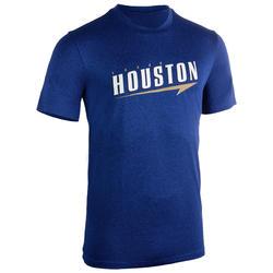 男款籃球T恤/運動衫TS500-藍色Houston字樣