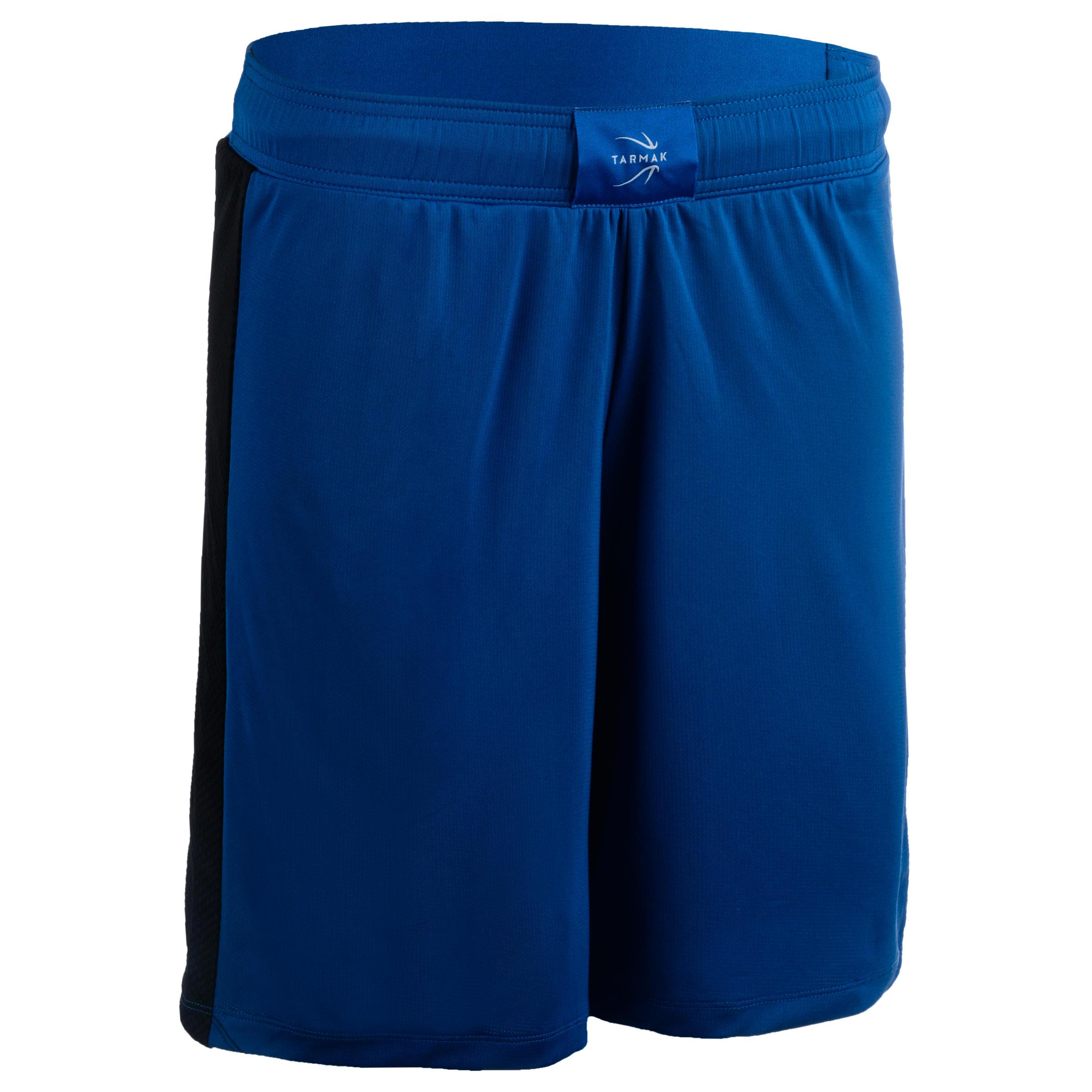 Basketballshorts SH500 Damen blau/schwarz | Sportbekleidung > Sporthosen > Basketballshorts | Blau - Schwarz | Tarmak