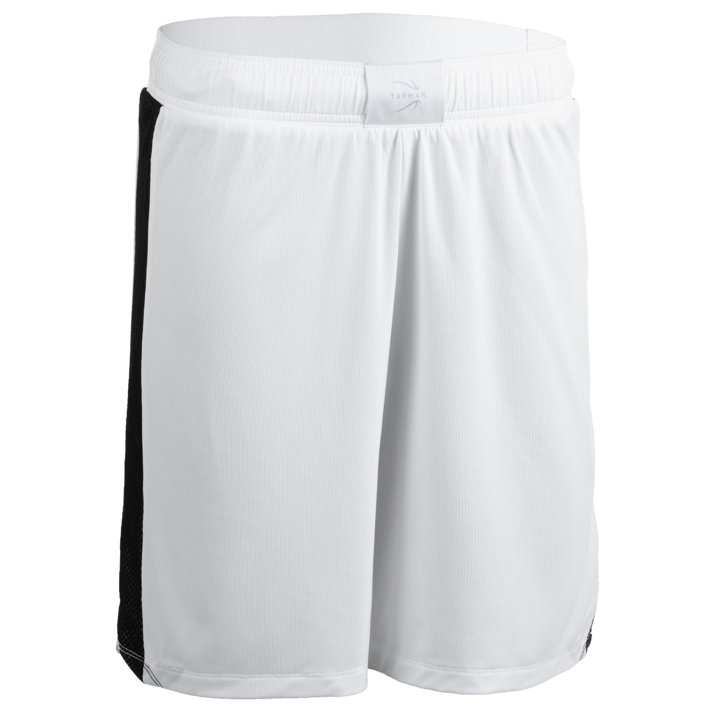 Tarmak Basketbalshort voor dames wit/zwart SH500