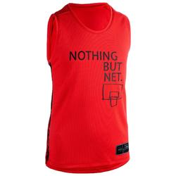 T500 Boys'/Girls' Intermediate Basketball Jersey - Red
