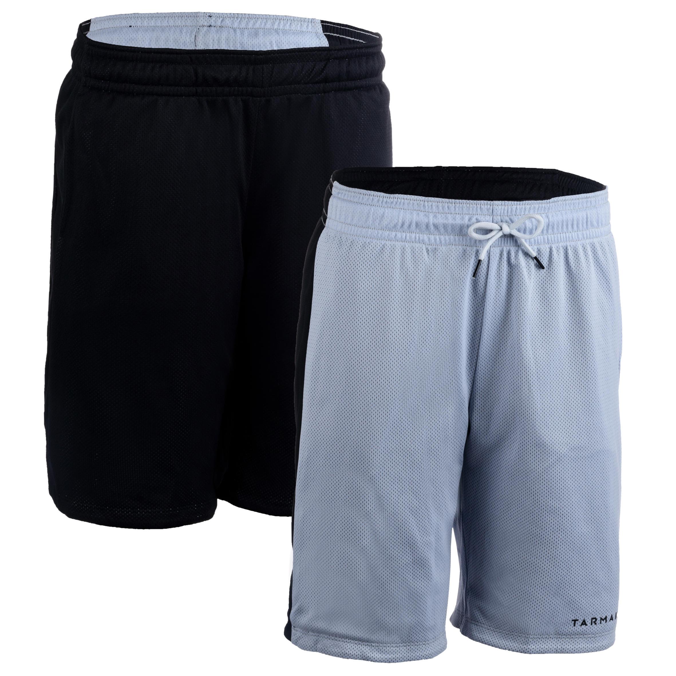 Basketballshorts wendbar SH500R Damen schwarz/grau | Sportbekleidung > Sporthosen > Basketballshorts | Tarmak