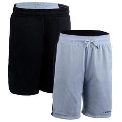 Pantalón Reversible Baloncesto Tarmak SH500R Mujer Gris Negro