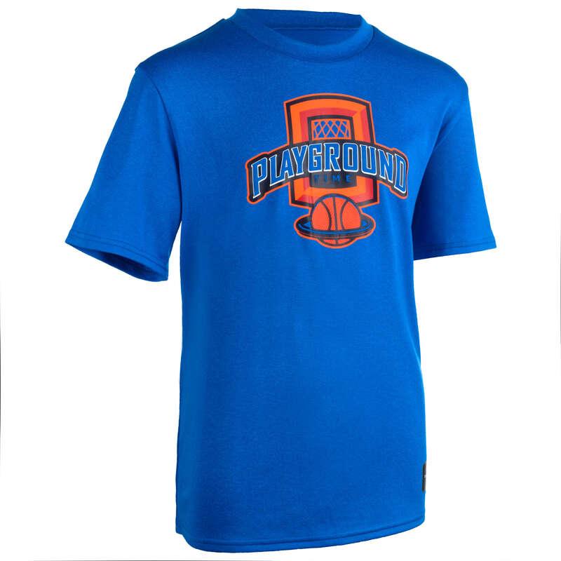 KIDS BASKETBALL OUTFIT Basketball - TS500 Kids' T-Shirt - Blue TARMAK - Basketball Clothes