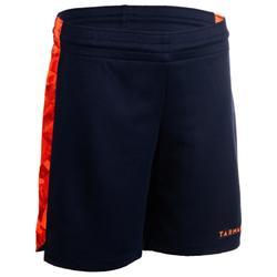 Basketballshorts SH500 Kinder blau/orange