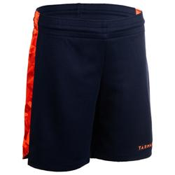 SH500 Boys'/Girls' Basketball Shorts For Intermediate Players - Navy/Orange