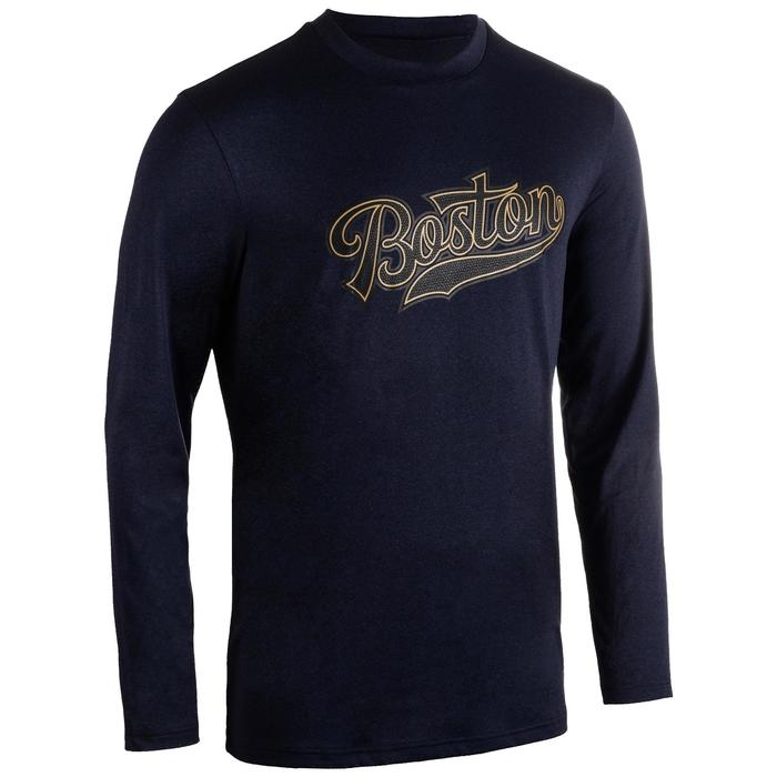 Basketball Jersey Long-Sleeved - Boston/Dark Blue