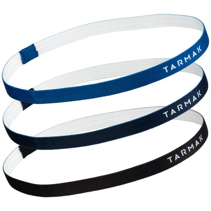 Haarbänder Set Basketball Damen schwarz/marineblau