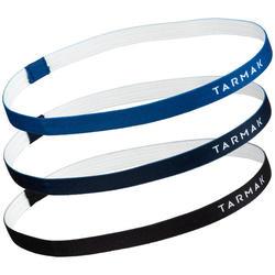 Set elastische hoofdbanden basketbal dames zwart marine blauw
