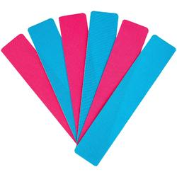 Kit Cintas Kinesiológicas Neuromuscular Precortadas 5 cm x 25 cm Rosa Azul