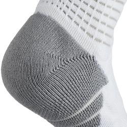 Men's/Women's Mid-Rise Basketball Socks SO900 - White/Grey